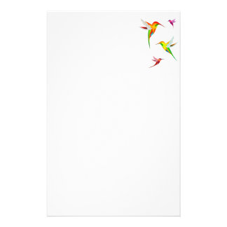 Cute Hummingbirds in Bright Colors - Bird Watching Stationery