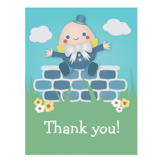 Cute Humpty Dumpty Baby Shower Thank You Postcard