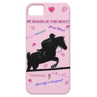 Cute Hunter Jumper Horse Doodles Case-Mate Case iPhone 5 Cases