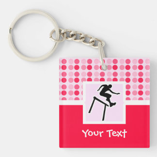 Cute Hurdler Double-Sided Square Acrylic Keychain