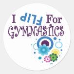 Cute I Flip for Gymnastics Sticker