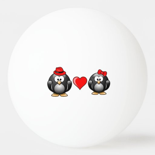 Cute I Found My Penguin Mate for Life Red Heart Ping-Pong Ball