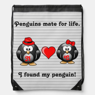 Cute I Found My Penguin Mate for Life Red Heart Backpacks
