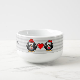 Cute I Found My Penguin Mate for Life Red Heart Soup Mug