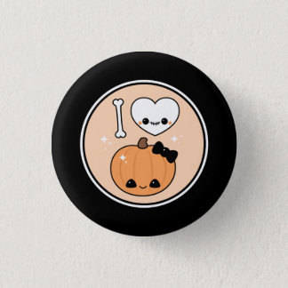 Cute I Heart Halloween 3 Cm Round Badge