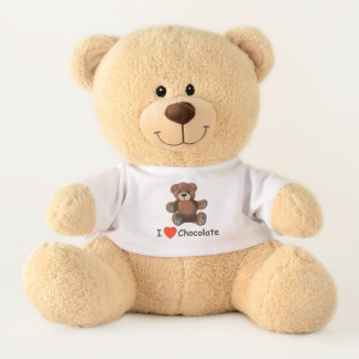 Cute I Heart (Love) Chocolate Teddy Bear
