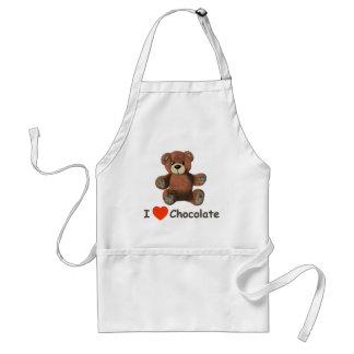 Cute I Heart (Love) Chocolate Teddy Bear Standard Apron