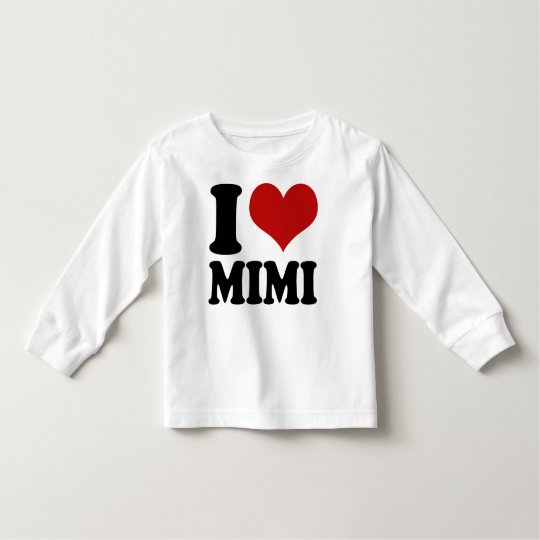 Cute I Heart Mimi Toddler T-Shirt