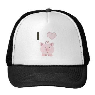 Cute I heart pigs Desgin Cap