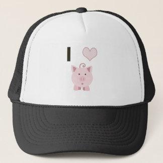 Cute I heart pigs Desgin Trucker Hat