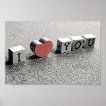 "Cute ""I Heart You"" Poster Print"