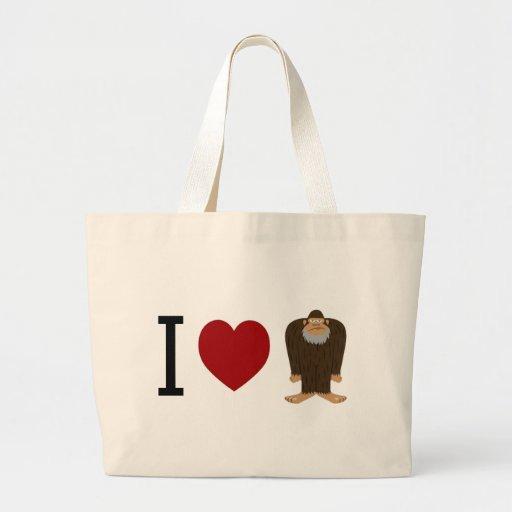 CUTE! I LOVE <3 BIGFOOT design - Finding Bigfoot Bag