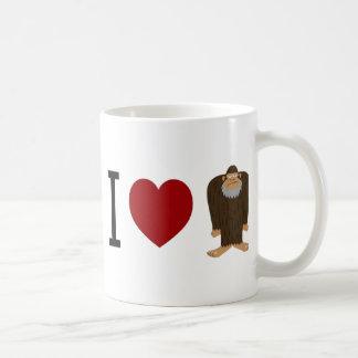 CUTE! I LOVE <3 BIGFOOT design - Finding Bigfoot Basic White Mug