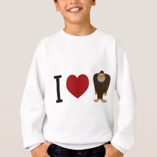 CUTE! I LOVE <3 BIGFOOT design - Finding Bigfoot Sweatshirt