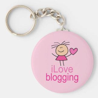 Cute I Love Blogging T-shirt Gift Key Ring