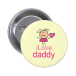 Cute I Love Daddy T-shirt Pinback Button