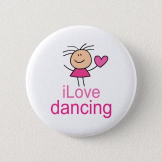 Cute I Love Dancing T-shirt Gift 6 Cm Round Badge