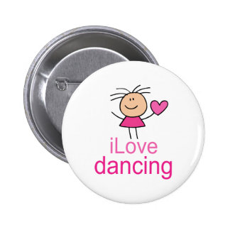 Cute I Love Dancing T-shirt Gift 6 Cm Round Badge