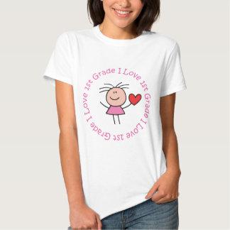 Cute I Love First Grade T Shirts
