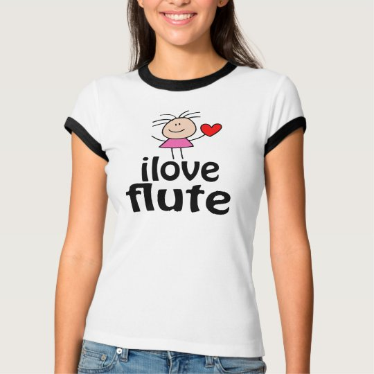 Cute I Love Flute T-shirt