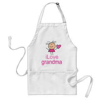 Cute I Love Grandma T-shirt Standard Apron