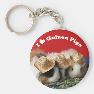 Cute I Love Guinea Pigs Keychain