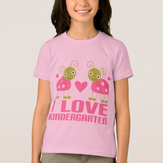 Cute I Love Kindergarten Ladybug Gift T-Shirt
