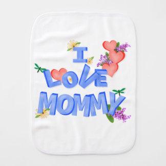 """Cute """"I Love Mommy"""" Burp Cloth"""