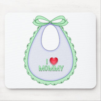 Cute I love Mommy Heart Bib Design Mouse Pads