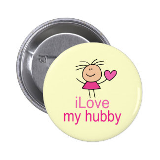 Cute I Love my Hubby T-shirt 6 Cm Round Badge