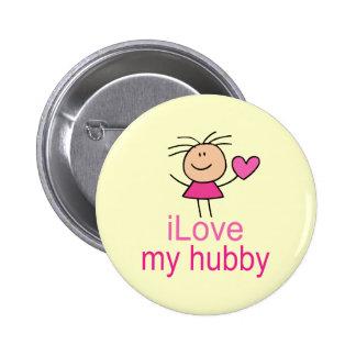 Cute I Love my Hubby T-shirt 6 Cm Round Badge