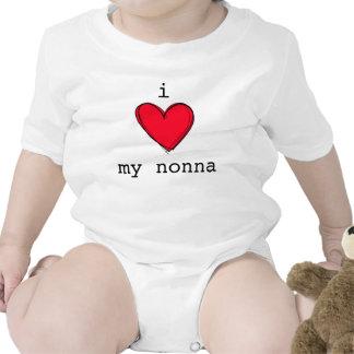 Cute I love my nonna baby crawler Italian grandma T-shirt