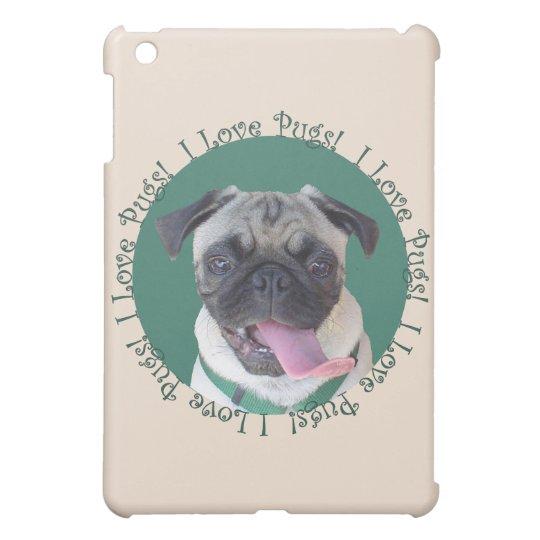Cute I Love Pugs Cover For The iPad