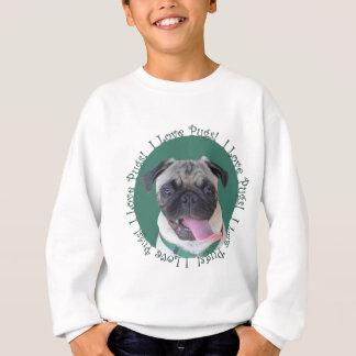 Cute I Love Pugs Dog Design Sweatshirt