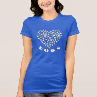Cute I Love Puppy Dogs Paw Print Heart T-Shirt