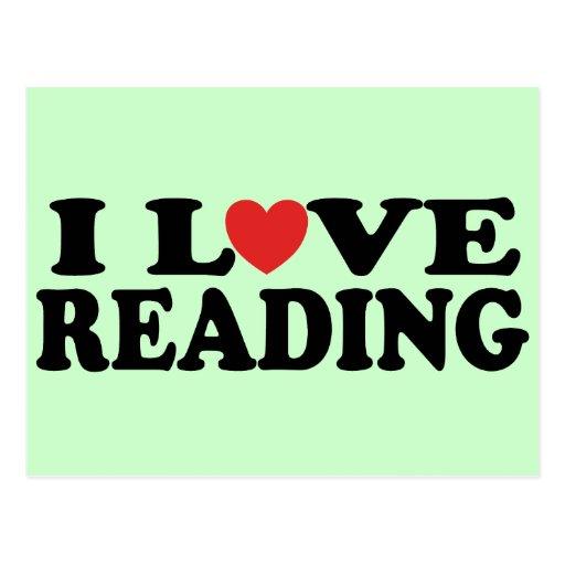 Cute I Love Reading T-shirt Postcards