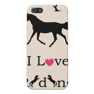 Cute I Love Riding Horse 4 4S Cover For iPhone 5