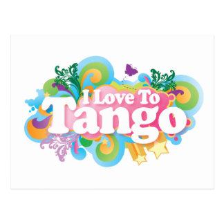 Cute I Love To Tango Dance Postcard