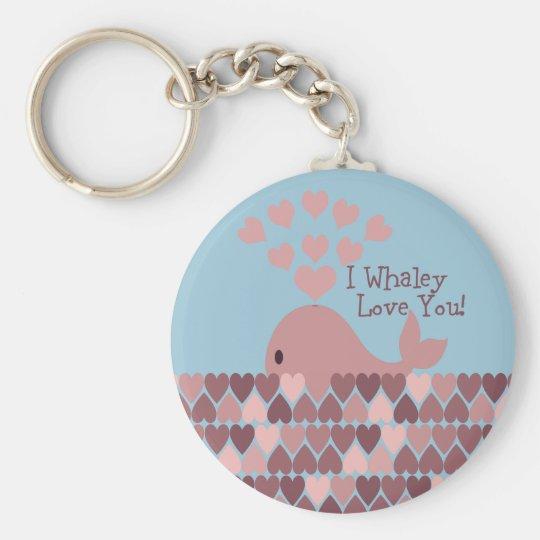 Cute I whaley Love You! design Key Ring