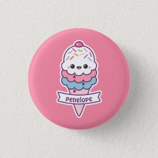 Cute Ice Cream Cone 3 Cm Round Badge