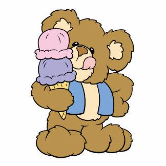 Cute Ice Cream Cone Bear Photo Cutouts