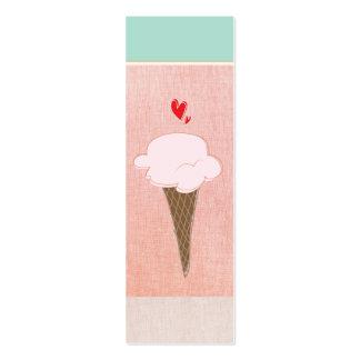 Cute Ice Cream Cone Calling Card Business Card Templates