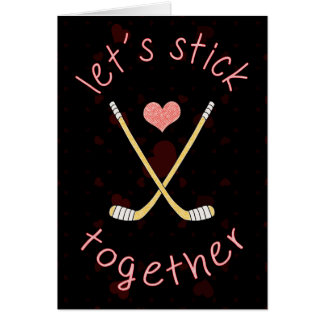 Cute Ice Hockey Valentine's Day Card