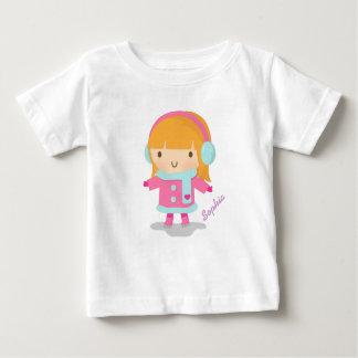 Cute Ice Skater Girl For Baby Girls Baby T-Shirt