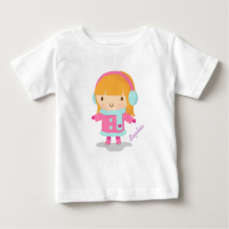 Cute Ice Skater Girl For Baby Girls T Shirts