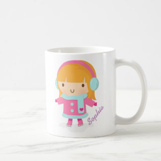 Cute Ice Skater Girl Classic White Coffee Mug