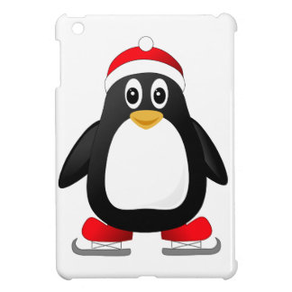 Cute Ice Skating Cartoon Penguin iPad Mini Case