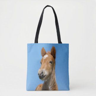 Cute Icelandic Horse Foal Pony Head Front Photo - Tote Bag