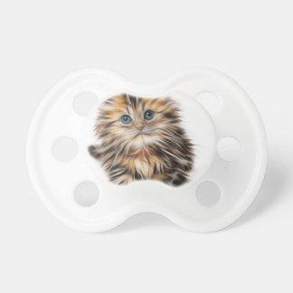 Cute Illustrated Kitten Pacifiers