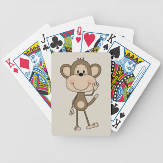 Cute illustrated Monkey Bicycle Playing Cards
